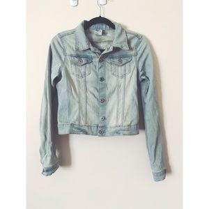 Cute mini soft denim jacket